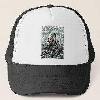 Snakes From Man Sitting on Capitol Trucker Hat