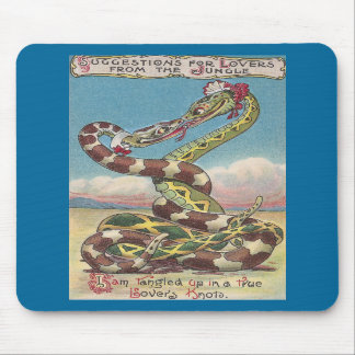 Snakes in a Lover's Knot Mousepads