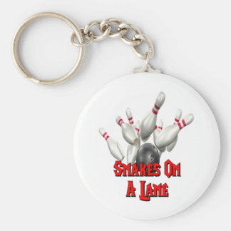 Snakes on a Lane Bowling Keychain