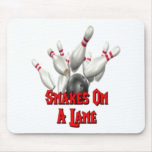Snakes on a Lane Bowling Mousepad