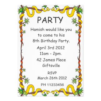 Snakes Party Invitation