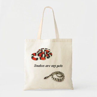 Snakes plows my pets (Lampropeltis) Tote Bag