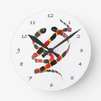 Snakes Reptile Art Round Clock