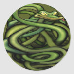 Snakes Round Stickers