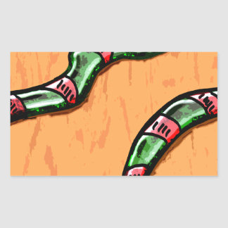 Snakes Rectangle Stickers