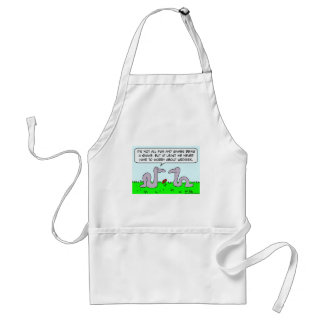 snakes worry about wedgies fun games adult apron