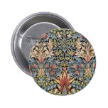 Snakeshead design by William Morris 2 Inch Round Button