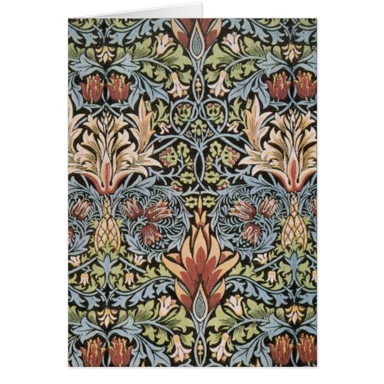 Snakeshead design by William Morris Card