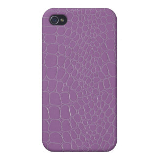 Snakeskin Alligator Purple iPhone 4/4S Case