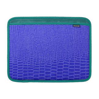 Snakeskin azul brillante funda macbook air