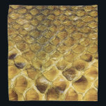 "Snakeskin Bandana<br><div class=""desc"">Rich color and decorative wild camouflage pattern markings of snakeskin.</div>"