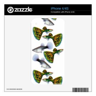 Snakeskin Cobra Fancy Guppies  Zazzle Skin iPhone 4S Decal