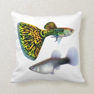 Snakeskin Cobra Fancy Guppy Fish Pillow