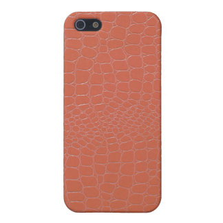 Snakeskin Coral Colored iPhone SE/5/5s Cover