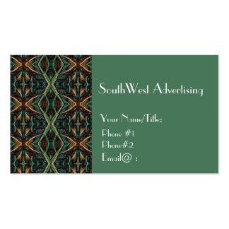 Snakeskin Design-Green+Brown Business Card Templates