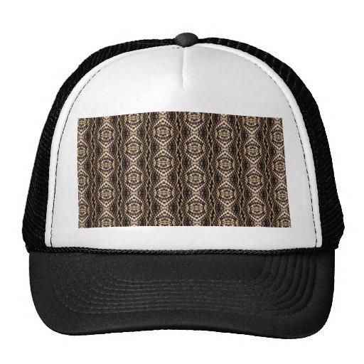 Snakeskin Design Mesh Hats