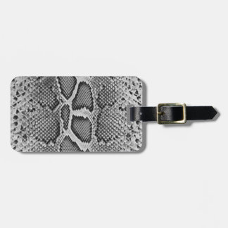 Snakeskin design, Snake Skin Print Pattern Bag Tag