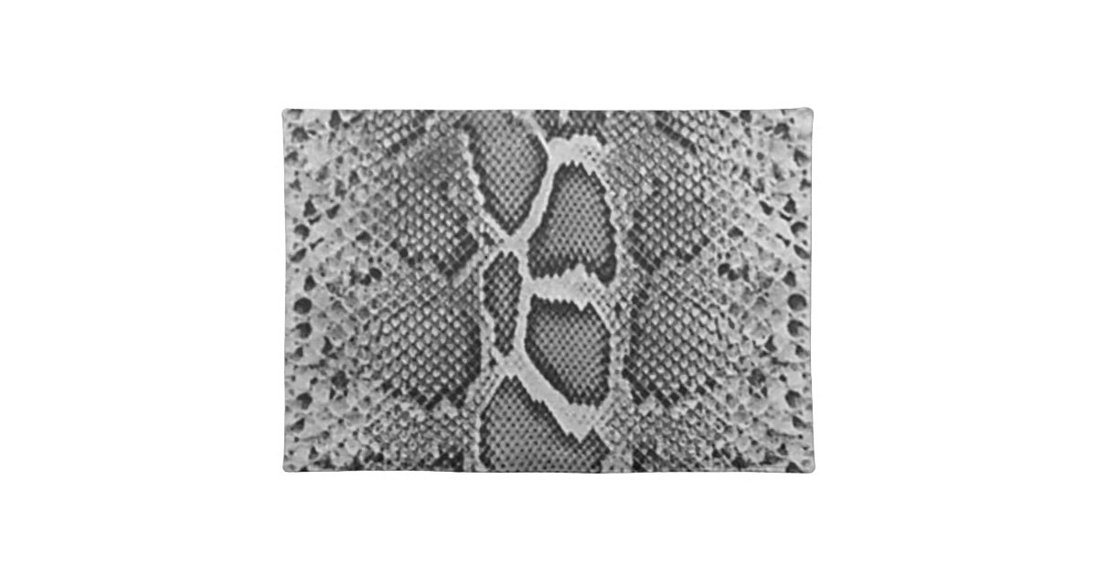 Snakeskin Design Snake Skin Print Pattern Cloth Placemat