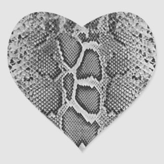 Snakeskin design, Snake Skin Print Pattern Heart Sticker
