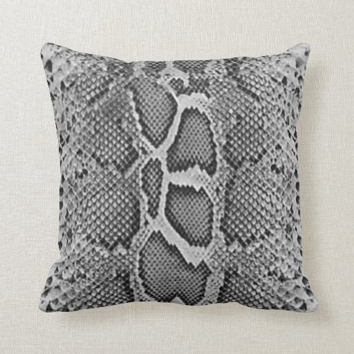 Snake Cushion Knitting Pattern : Snakeskin design, Snake Skin Print Pattern Throw Pillows Zazzle