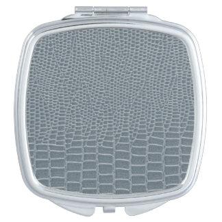 Snakeskin fresco del gris azul espejos compactos