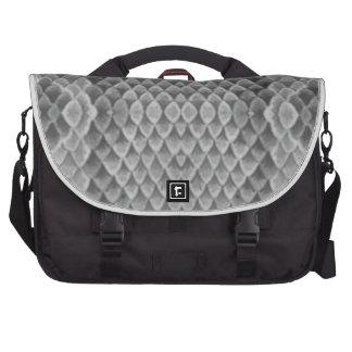 Snakeskin gris bolsas para portatil