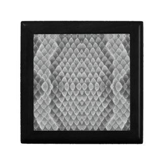 Snakeskin gris caja de joyas