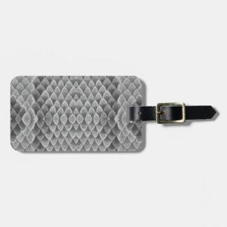 Snakeskin gris etiqueta para equipaje