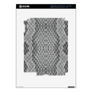 Snakeskin gris iPad 3 pegatina skin