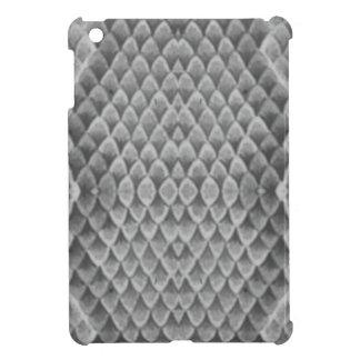 Snakeskin gris iPad mini protectores