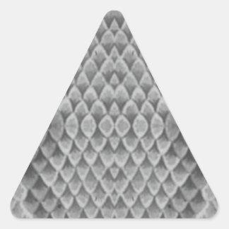 Snakeskin gris pegatina triangular