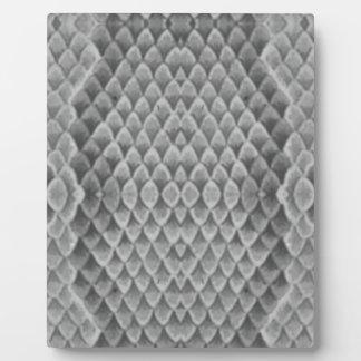 Snakeskin gris placa de madera