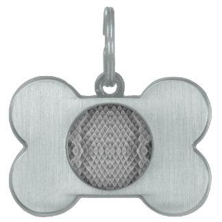 Snakeskin gris placas de nombre de mascota