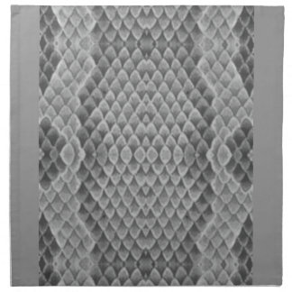 Snakeskin gris servilletas imprimidas