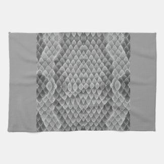 Snakeskin gris toallas de mano