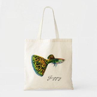 Snakeskin Guppy Tote Bag