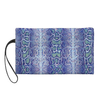 Snakeskin Pattern Purple Wristlet