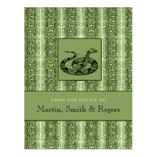 Snakeskin Personalized Postcards