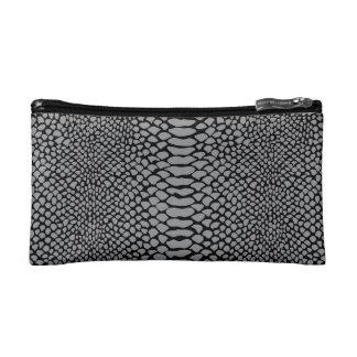 Snakeskin Printed Cosmetic Bag