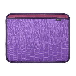 Snakeskin púrpura violeta fundas MacBook