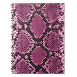 Snakeskin rosado libro de apuntes
