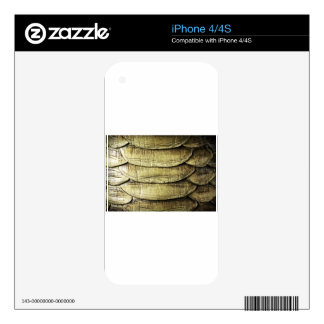 Snakeskin Snake Background Texture Decals For iPhone 4