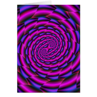 Snakeskin Spiral in Blue and Pink Card