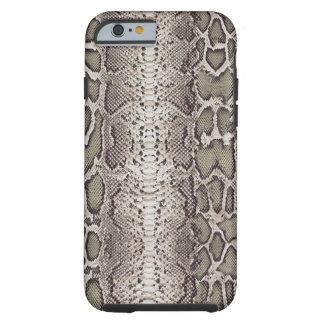 Snakeskin, verdes y grises falsos/falsos funda de iPhone 6 tough