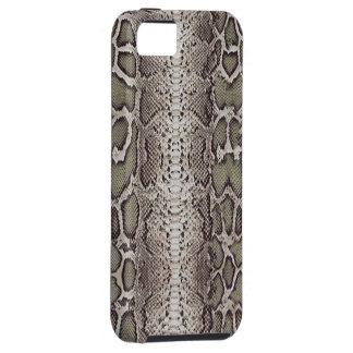 Snakeskin, verdes y grises falsos/falsos iPhone 5 funda