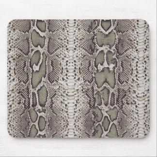 Snakeskin, verdes y grises falsos/falsos tapetes de ratones