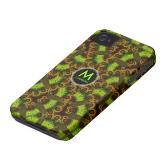 Snakey Abstract Monogram iPhone 4 Case-Mate