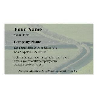 Snaking green lane business card
