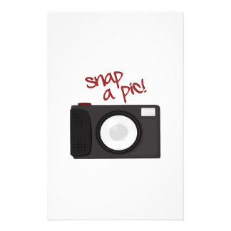 Snap A Pic Custom Stationery