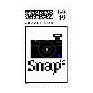 Snap! Compact Digital Camera Pixel Art Postage
